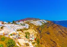 In Santorini island in Greece Stock Photography
