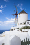 Santorini island, Greece. Oia town. Traditional and famous houses and churches over the Caldera Stock Image