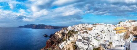 Santorini island in Greece, Oia village, day after the storm Stock Photography