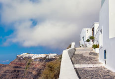 Santorini island in Greece, Oia village, day after the storm Stock Photo