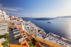 Santorini Island. Greece. Oia. White clay, white buildings. Royalty Free Stock Photography