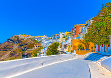 In Santorini island in Greece Stock Image