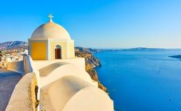 Santorini island in Greece royalty free stock image