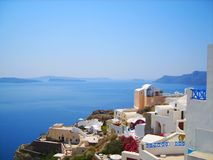 Santorini island, Greece. royalty free stock images