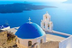 Santorini island, Greece. royalty free stock photography
