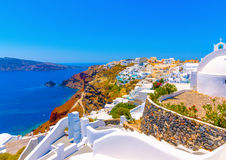 In Santorini island in Greece Stock Photos