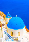 In Santorini island in Greece Royalty Free Stock Images