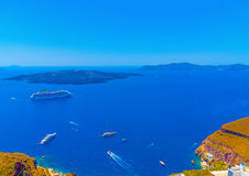 In Santorini island in Greece Royalty Free Stock Photos