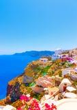 In Santorini island in Greece Stock Image