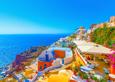 In Santorini island in Greece Royalty Free Stock Photography