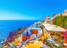 In Santorini island in Greece Royalty Free Stock Photography