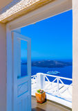 In Santorini island in Greece Stock Images