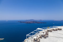Santorini island in Greece Royalty Free Stock Images