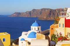 Santorini island in Greece Stock Photos