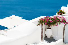 Santorini island, Greece. White architecture on Santorini island, Greece Royalty Free Stock Photography