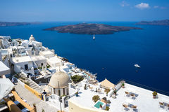Santorini island hotels Royalty Free Stock Image