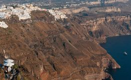 Santorini island landscape Stock Photo