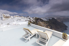 Santorini island landscape of famous Oia village, Greece Stock Photography