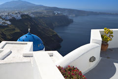 Santorini island in the mediterranean Stock Photography