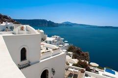 Santorini island. Near Greece  in sunny weather Royalty Free Stock Image