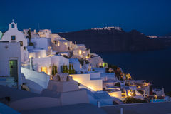 Santorini island Oia city by night Royalty Free Stock Image