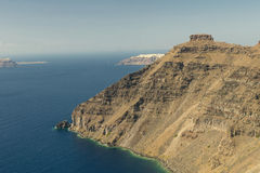 Santorini island rock Royalty Free Stock Images