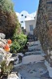 Santorini island stairway Stock Image