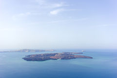 Santorini island and the volcanic isle Stock Photography