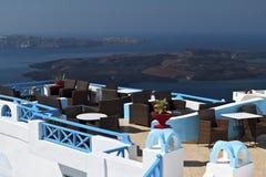 Santorini island and the volcano, Greece Royalty Free Stock Photos