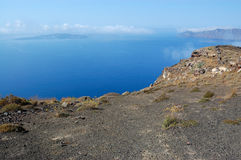 Santorini island volcano view Royalty Free Stock Images