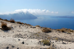 Santorini island volcano view Stock Photos