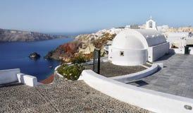 Santorini island, White Church Royalty Free Stock Image