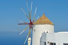 Santorini island windmill Stock Photography