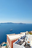 Santorini - The islands Nea Kameni and Palea Kameni Stock Images