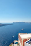 Santorini - The islands Nea Kameni and Palea Kameni Royalty Free Stock Photos
