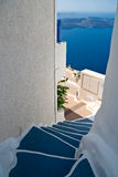 Santorini Jobstepps Lizenzfreie Stockfotografie