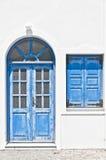 Santorini kamari home Royalty Free Stock Images