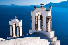 Santorini-Kapelle, Griechenland Stockfotografie