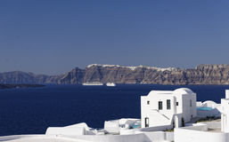 Santorini-Kessel lizenzfreies stockbild