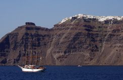 Santorini Kessel - Griechenland Lizenzfreie Stockfotos