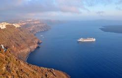 Santorini - Kesselansicht Lizenzfreie Stockfotos