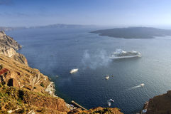 Santorini - Kesselansicht Stockfoto