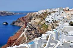 Santorini Kesselansicht Stockfotos