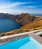 Santorini-Klippen Lizenzfreies Stockbild