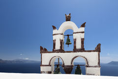 Santorini Klocka torn Royaltyfria Foton