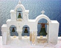 Santorini Klockor Royaltyfri Bild