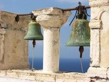 Santorini Klockor Arkivbild