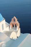 santorini kościoła Zdjęcia Royalty Free