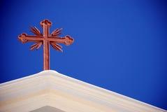 Santorini Kreuz lizenzfreie stockbilder