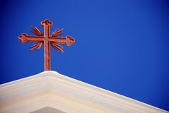 santorini krzyż Obrazy Royalty Free